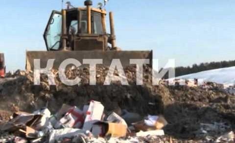 Показательную акцию уничтожения продуктов, одежды и украшений провели нижегородские полицейские