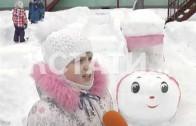 В настоящую выставку снежного искусства превратился детский сад в Московском районе