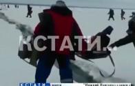 Экстремальное увлечение — расходящиеся льдины не останавливают нижегородских рыбаков