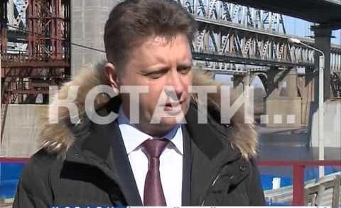Министр транспорта РФ побывал на строящемся Борском мосту