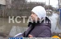 Грунтовые и канализационные воды затопили микрорайон Сортировочный