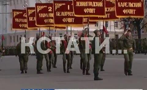 Репетиция парада Победы прошла на площади Минина