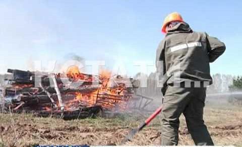Сотруднки МЧС готовятся к отражению лесных пожаров