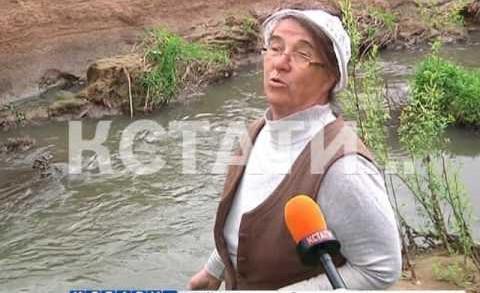 Незаконный канализационный слив в Рахму