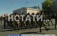 В честь 71-й годовщины на площади Минина прошел парад Победы.