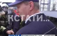 Пожарно-тактические учения прошли в здании Речного вокзала
