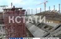 Ход работ на стадионе «Нижний Новгород» оценил сегодня Валерий Шанцев
