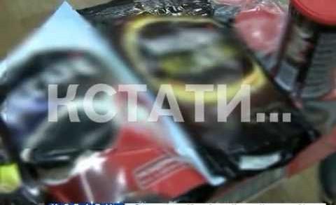 Уничтожение контрафакта с помощью тяжелой техники продолжили сотрудники нижегородской полиции