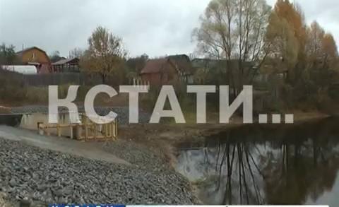 Реконструкция плотины заканчивается близ села Кириловка