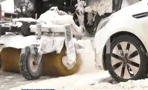 Водительский барьер для уборки улиц