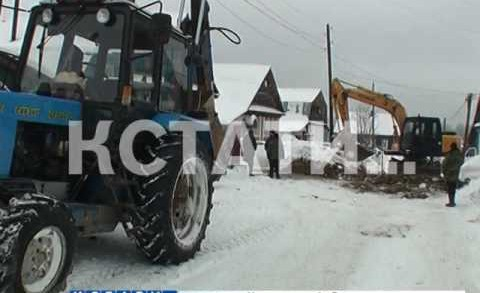 Снег стал спасением для жителей Медведево, оставшихся без благ цивилизации