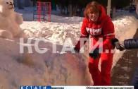 Ледяной зоопарк вырос в нижегородском детском саду