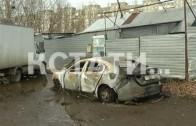 Блогеру, провоцирующему полицейских неизвестные сожгли автомобиль