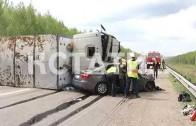 Сонная трагедия — заснувший водитель вывел легковой автомобиль на встречную полосу