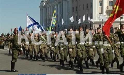 Сводная репетиция парада победы прошла сегодня на площади Минина