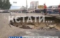 Авария по графику — коммунальный фонтан открылся на ул. Луначарского.