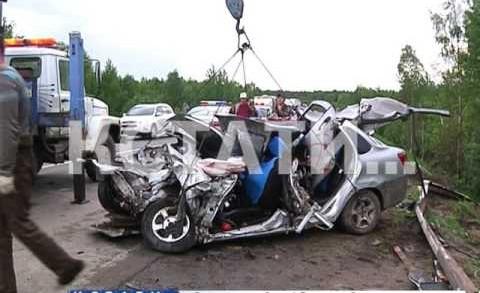Четыре смерти в одной машине — большегруз раздавил машину с пассажирами
