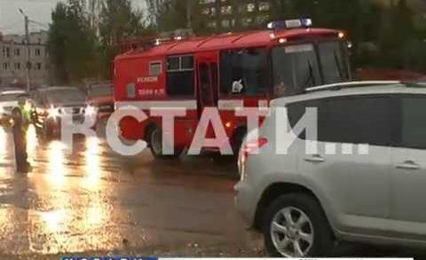 Пожар на строящемся стадионе «Нижний Новгород»