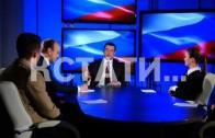 Глава Нижегородского региона Глеб Никитин дал большое интервью нижегородским телекомпаниям