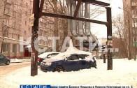 Лед внутри и снаружи — автомобиль превратился в ледяную глыбу.
