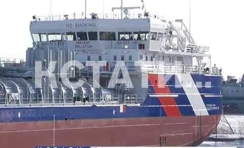 Новый танкер-химвоз был спущен на воду на заводе «Красное Сормово»