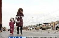 Тотальное обледенение — после резких скачков температуры Нижний Новгород покрылся льдом.
