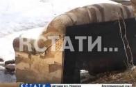 С приходом весны расцвела незаконная свалке в микрорайоне Бурнаковский