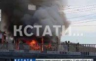 Из-за пожара в маршрутном такси пришлось перекрыть Канавинский мост