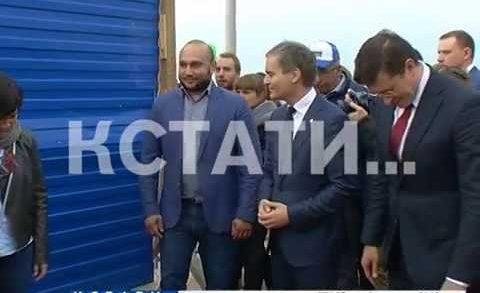 Синий забор окончательно пал на Нижневолжской набережной