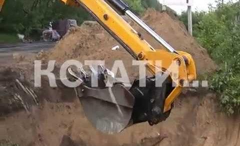 Провал грунта произошел на дороге Дзержинск-Нижний Новгород