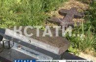 Избирательная стихия или вандализм — в Кстовском районе на кладбище разрушили памятник