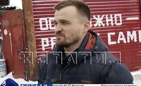 Гараж в Приокском районе стал воротами на нелегальную свалку снега