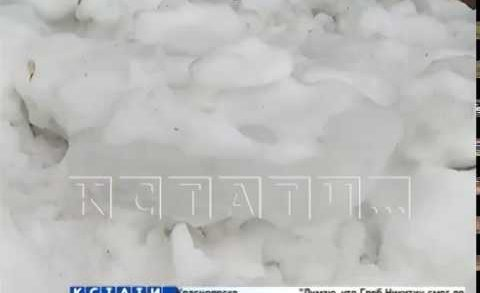 В Нижнем Новгороде от падающих льдин страдают дети