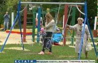 Первые из запланированных 100 детских площадок установлены в Автозаводском районе
