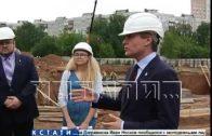 Строительство нового детского сада в Верхних Печерах проинспектировал мэр города