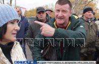 Жители пригорода Лыскова на несколько минут перекрыли трассу