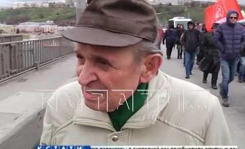 Канавинский мост перекрыли из за праздничной демонстрации