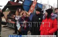На свалках химических отходов «Черная дыра» и «Белое море»прошел экологический урок для школьников