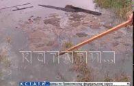 Расхищение недр привело к затоплению канализационными водами частного сектора в Балахне