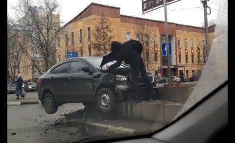 Летающий автомобиль появился в результате ДТП в Канавинском районе