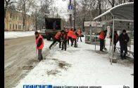Последствия ледяного дождя и снегопада устраняют в Нижнем Новгороде