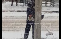В Арзамасском районе коммунальщики косили снег