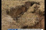 Оползни из-за некачественной ливневки разрушают новый парк в Кстове