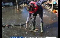 Садовое половодье — частный сектор в Балахне сначала затонул, а потом замерз
