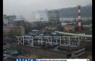 Сильный пожар произошел сегодня утром в Канавинском районе