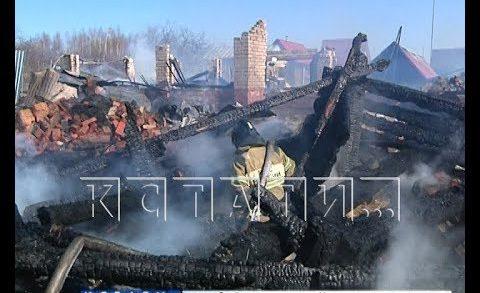 В Кстовском районе сгорели два дачных домика