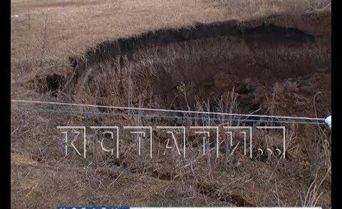 Новый провал — второй оползень за две недели случился в Гагинском районе