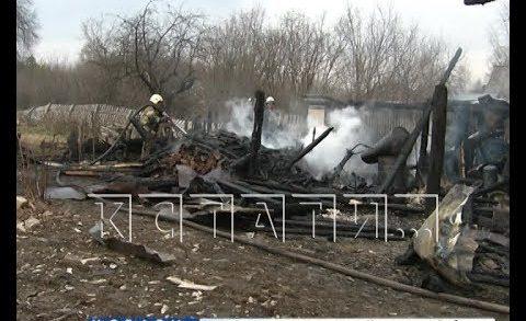Пал травы уничтожает дома в Нижегородской области