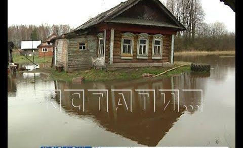 Большая вода отрезала маленькое село от «большой земли» в Богородском районе