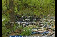 Масляная река с мусорными берегами потекла в микрорайоне Бурнаковский
